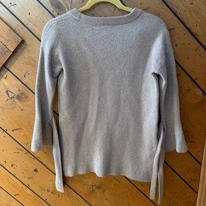 1ac1b5b19c Madewell Sweaters - Madewell tie cuff sweater dress wool tan small